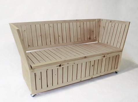 Nicolas Goupil Ébéniste, création, mobilier de jardin, table et fauteuil (2)