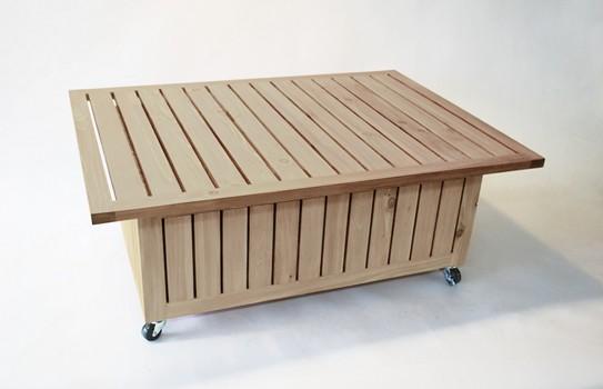 Nicolas Goupil Ébéniste, création, mobilier de jardin, table et fauteuil (5)